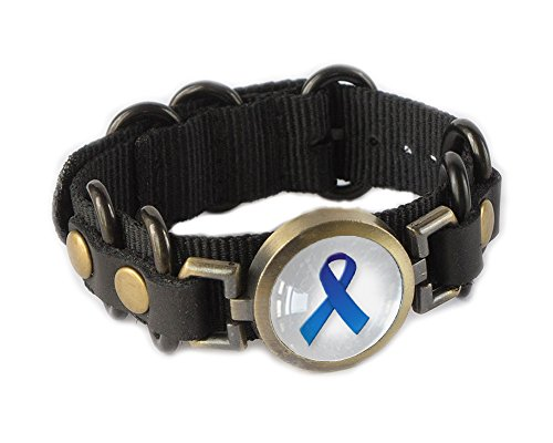Awareness Ribbon Bracelet Wristband - Blue -