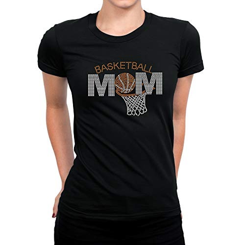 Basketball Rhinestones Bling Shirt Women