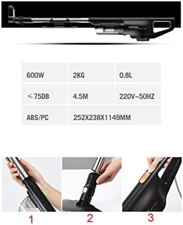 Aspirateur filaire léger 2 en 1 de Coco - Aspirateur de poche avec sac et filtre en acier inoxydable HEPA (DX770), noir