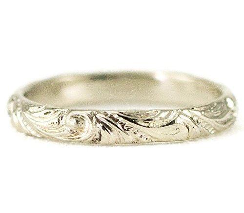 Amazon.com 14k Gold Wedding Band , Slender White or Yellow