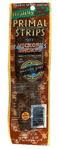 Primal Strips Hickory Smoked Meatless Jerky, 1 Ounce -- 24 per case.