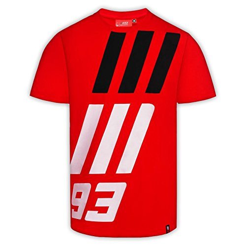 pritelli 1833010/XL Marc má rquez 93 Moto GP Large MM93 Logo Camiseta Oficial de 2018, Rojo