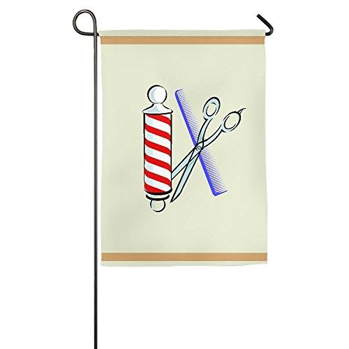Barber Tool Garden Flag Polyester Decorative House Banner Fo
