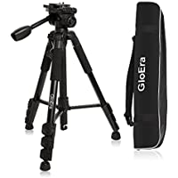 Camera Tripod, GloEra Portable Lightweight Travel Camera Tripod Flexible Aluminum Alloy Stand with Carry Bag for Canon Nikon Sony DSLR DV Video Camcorder