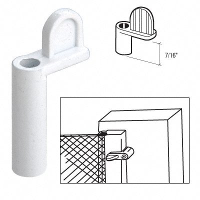 Diecast Window Screen Clips Package (CRL White 7/16