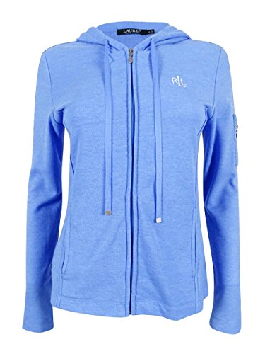 Lauren Cotton Blouse (RALPH LAUREN Women's Zip Hoodie Pajama (L, Blue))