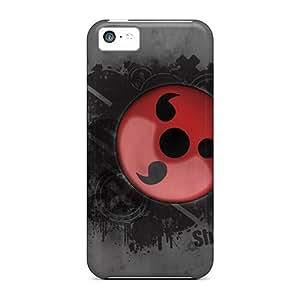 Protector Hard Phone Cases For Iphone 5c (yXG15221HNQY) Custom Lifelike Naruto Shippuden Sharingan Pattern