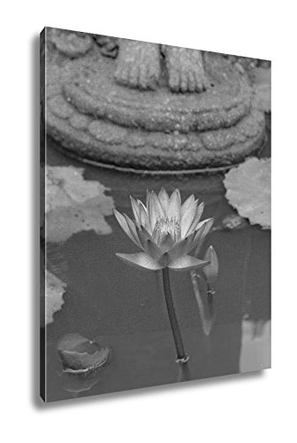 Amazon ashley canvas lotus flower under buddhas feet in mendut ashley canvas lotus flower under buddhas feet in mendut buddhist monastery wall art home decor mightylinksfo