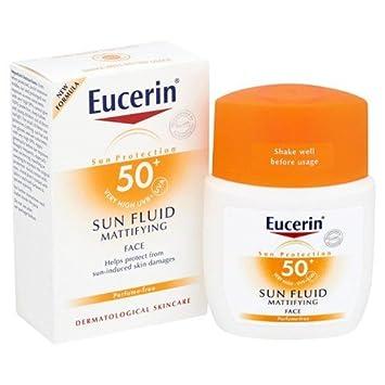 eucerin sun fluid mattifying face