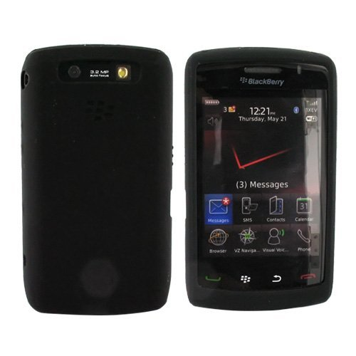 For OEM Blackberry Storm 2 Silicone Skin Case Black (Storm Case Blackberry)