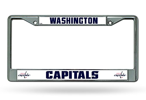 Rico Industries Washington Capitals Chrome License Plate Frame
