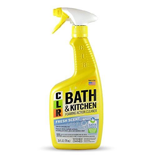 Jelmar PB-BK-2000 CLR Fresh Scent Bath and Kitchen Cleaner, 26 oz Trigger Spray Bottle ()