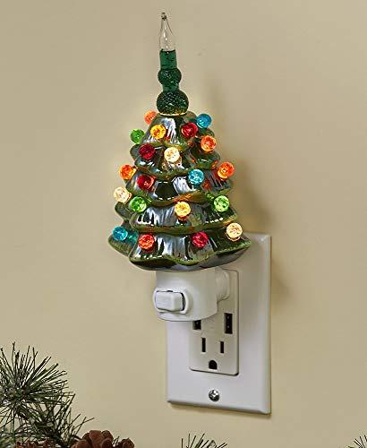Retro Bubble Christmas Tree Night Light (Green) (Tree Christmas Night)