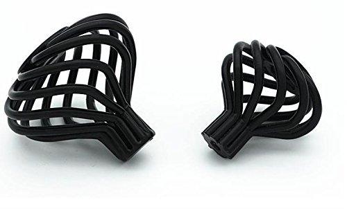 Lorigun Alloy Knob,Birdcage Round Cabinet Knob, 10 Pack, Dark Black by Lorigun