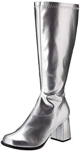 Silver Costumes Boots (Ellie Shoes Women's Gogo Boot, Silver, 9 M US)