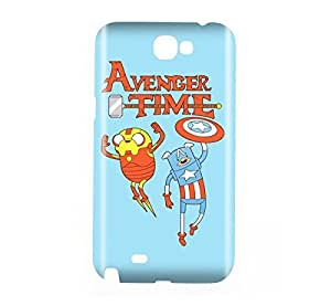 Adventure Time Finn and Jake Snap on Plastic Case Cover Compatible with Samsung Galaxy Note II 2