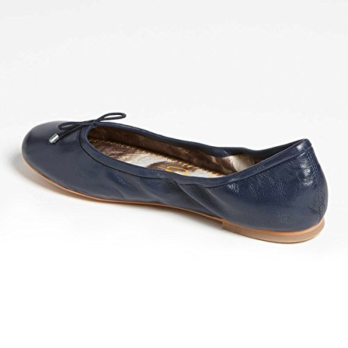 XYD Womens Comfortable Ballet Flats Round Toe Slip On Dress Shoes With Bows Dark Blue kiH2NUIU