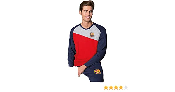 Pijama Oficial Hombre FC BARCELONA Azul-Grana 2017-2018: Amazon.es: Ropa y accesorios