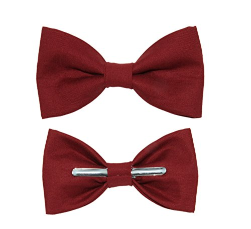 Toddler Boy 3T 4T Brick Red Clip On Cotton Bow Tie