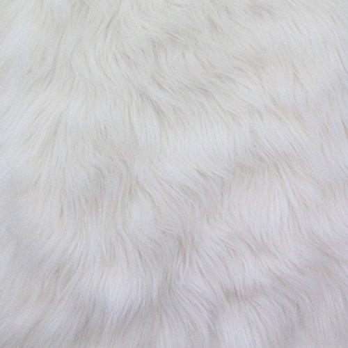 Luxury Shag 60 Inch Fabric by the Yard (F.E. (White)