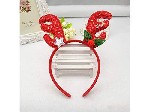 Lovke 2 Pcs Antlers Paillettes Bandeau Serre-tête De Noël De Coiffure De Fête De Noël Pour Enfant (rouge) Une Bonne Décoration