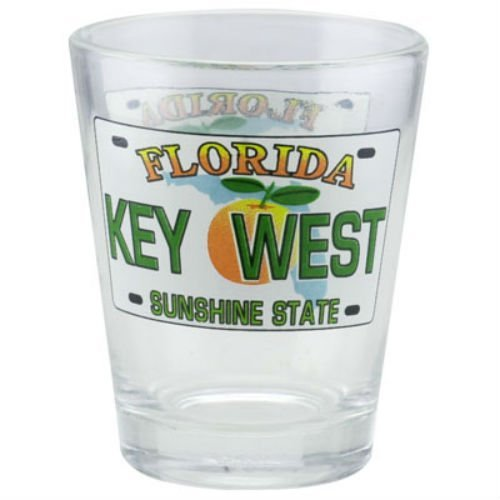 Key West Florida License Plate Shot Glass