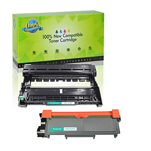 NineLeaf Toner Cartridge and Drum Unit Replacement Combo Compatible for Brother TN660 TN630 DR630 HL-L2315DW HL-L2380D MFC-L2685DW MFC-L2740DW Printer (1 Drum + 1 Toner) -  NineLeaf Tech, QNL-AMA004-TN660-1PK+DR630-1PK