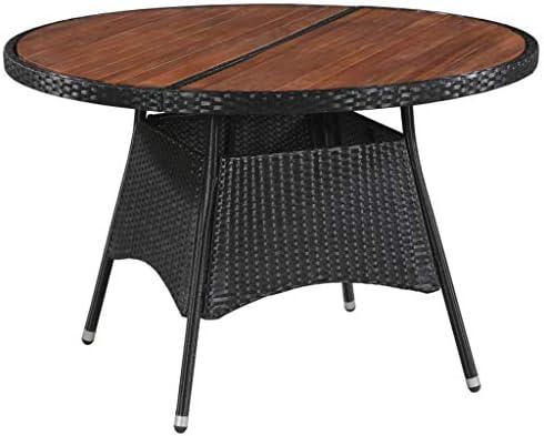 Festnight- Table Jardin Ronde Table Jardin Resine Tressee Table de ...