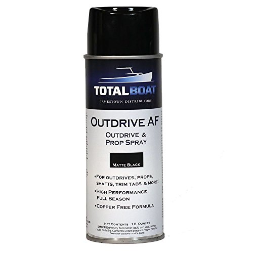TotalBoat Outdrive AF Aerosol for Underwater Metals (Black, 12 oz.)