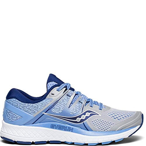 Saucony Women's S10443-1 Omni ISO Road Running Shoe, Silver | Blue | Navy - 9.5 Wide ()