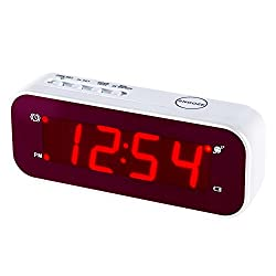 Timegyro Small Digital Alarm Clock Battery Operated LED Travel Clock, 2pcs Batteries Can Keep Clock Working More Than 1 Year