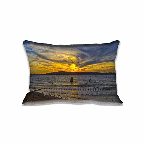 (Customized Pringting Clinton Lake Sunset Pillowcases Set Designs United States Throw Pillow Cover , Personalzed Photo Patterns Kansas Cushion Covers)