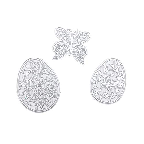 MEIYIN Easter-Egg DIY Mteal Cutting Dies Stamp Embossing Dies for Card Making Scrapbooking Templates