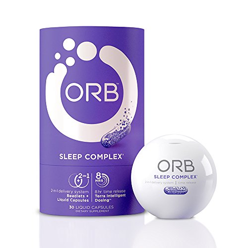 ORB Sleep Aid Supplement - Helps Natural Sleeping & Insomnia Relief with Essential Oils + Herbal Formula Melatonin, Valerian, Chamomile | Calms & Aids Better Sleep | TimeRelease B12 Vitamins, 30 count (Best Vitamins For Sleep)