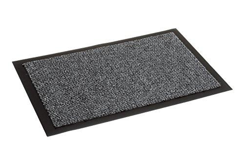 Astra FS0610015040 Fußmatte / Sauberlaufmatte Nela, 100 % Polypropylen, 40 x 60 cm, grau