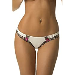 Velvet Kitten Cats Meow Thong #124253 (Medium, Ivory)