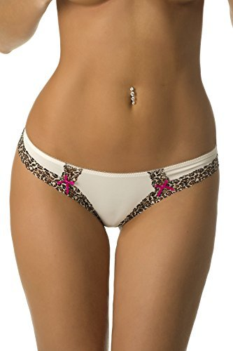 Velvet Kitten Cats Meow Thong #124253 (Medium, Ivory) (Velvet Knickers)