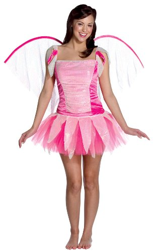 3b6c388ba4a8 Amazon.com: Adult Deluxe Pink Fantasy Fairy Costume - Womens Medium:  Clothing
