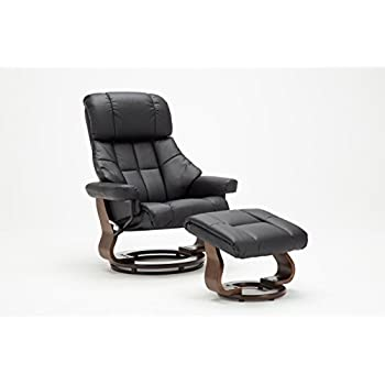 Madison Home Mid Century Modern Bonded Leather Lounge Swivel and Recliner Chair with Foot Stool Ottoman  sc 1 st  Amazon.com & Amazon.com: Madison Home Mid Century Modern Bonded Leather Lounge ... islam-shia.org