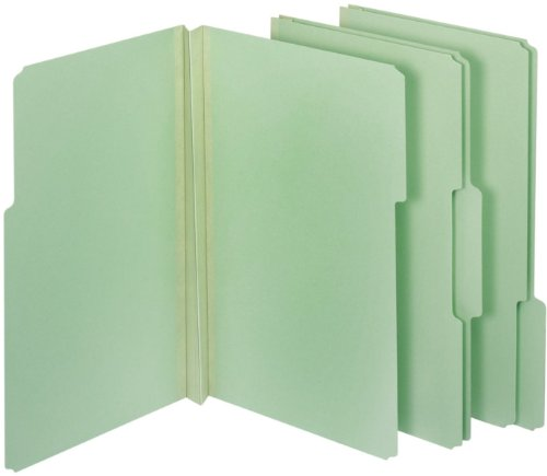 Globe-Weis/Pendaflex Pressboard File Folders, 2-Inch Expansion, 1/3 Cut Tab, Legal Size, Light Green, 25-Count (28234) by Globe Weis