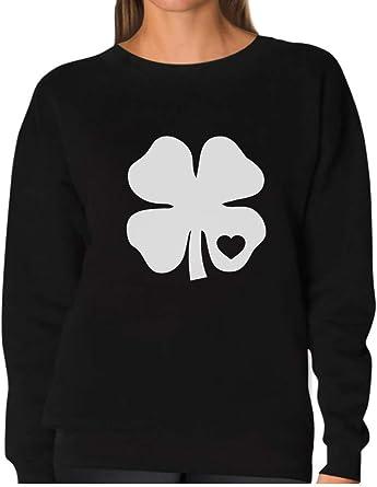 White Clover Heart St Patrick/'s Irish Shamrock Cute Long sleeve kids T-Shirt