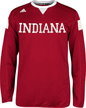 Indiana Hoosiers Adidas 2014 Red Sideline Climalite Long Sleeve T-Shirt (Small)