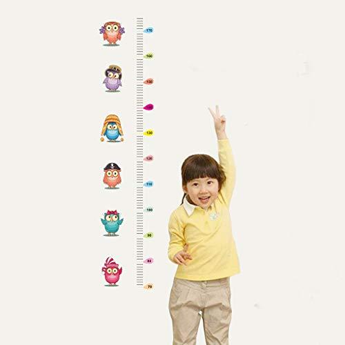 - Iulove Owl Kids Height Chart Wall Sticker Home Decor Cartoon Animal Height Ruler