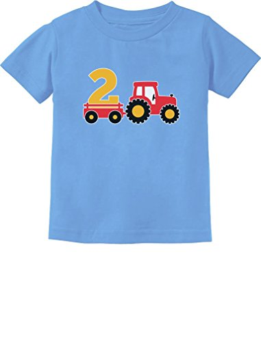 2nd Birthday Gift Construction Party 2 Year Old Boy Toddler/Infant Kids T-Shirt 3T California Blue