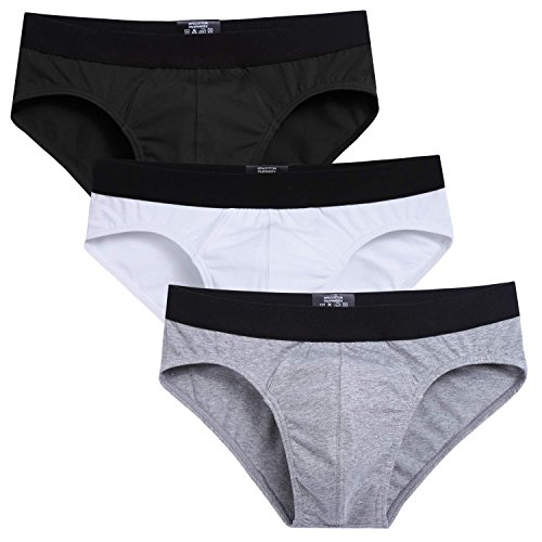Avidlove Men Underwear Cotton Bikinis 3 Pack Hip Briefs #4 XXL