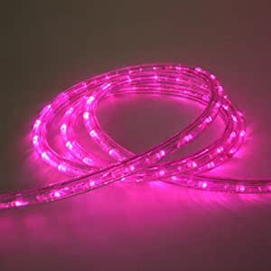 CBconcept 120VLR10FT Pink 10 Feet 120V 2 Wire 1 2 Inch LED Rope Light With 1