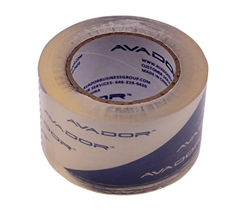 AVADOR Crystal Clear High Performance Heavy Duty Packaging Tape Solvent Base 2.6 Mil Thick 3