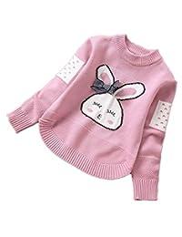 Nine Minow Girls' Sweaters 3-15 Years Kids Cartoon Rabbit Sweaters Girls Clothing