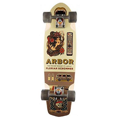 Arbor Pocket Rocket GT Complete Skateboard, Black (Pocket Arbor Longboard Rocket)