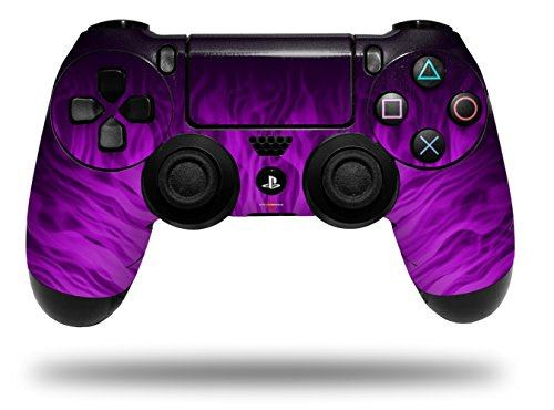 - Vinyl Skin Wrap for Sony PS4 Dualshock Controller Fire Purple (CONTROLLER NOT INCLUDED)